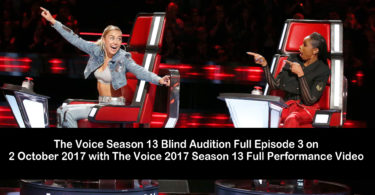 The Voice Season 13 Blind Audition Full Episode 3 on 2 October 2017 with The Voice 2017 Season 13 Full Performance Video