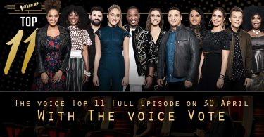 Watch The Voice USA 2018 Top 11 Full Episode on 30 April 2018 With Vote The voice Voting App tonight