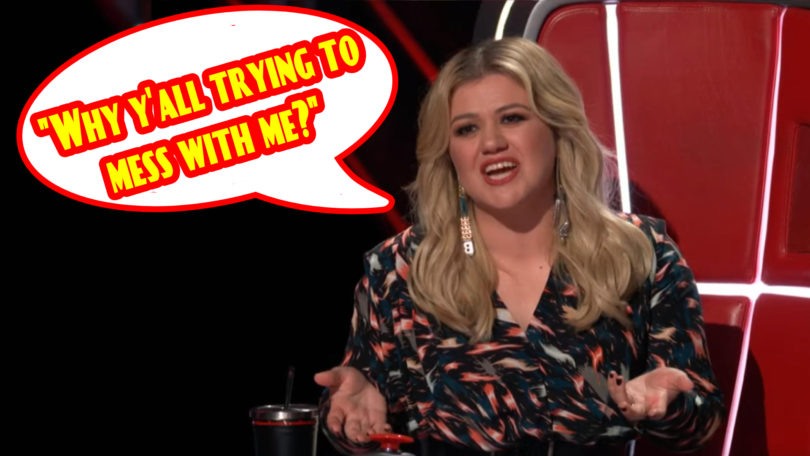 Kelly Clarkson freaked out on The Voice Season 18